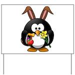 Easter Penguin Yard Sign