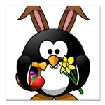 Easter Penguin Square Car Magnet 3