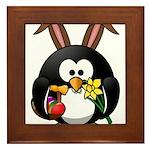 Easter Penguin Framed Tile