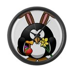 Easter Penguin Large Wall Clock