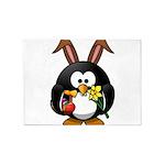 Easter Penguin 5'x7'Area Rug