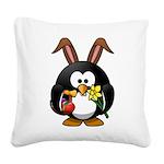Easter Penguin Square Canvas Pillow