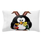 Easter Penguin Pillow Case