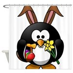 Easter Penguin Shower Curtain