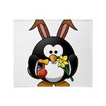 Easter Penguin Throw Blanket