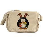 Easter Penguin Messenger Bag