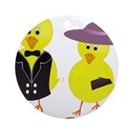 Easter Sunday Chick Ornament (Round)