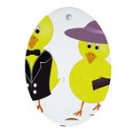 Easter Sunday Chick Ornament (Oval)