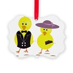 Easter Sunday Chick Picture Ornament