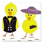 Easter Sunday Chick Square Car Magnet 3