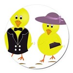 Easter Sunday Chick Round Car Magnet