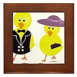 Easter Sunday Chick Framed Tile