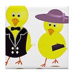 Easter Sunday Chick Tile Coaster
