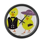 Easter Sunday Chick Large Wall Clock