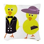 Easter Sunday Chick Woven Throw Pillow