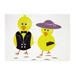 Easter Sunday Chick 5'x7'Area Rug