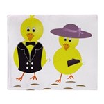 Easter Sunday Chick Throw Blanket