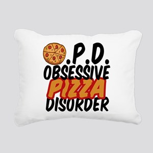 Funny Pizza Rectangular Canvas Pillow