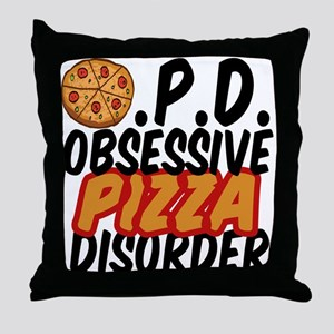 Funny Pizza Throw Pillow