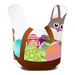 Easter Eggs with Rabbit Baby Bib