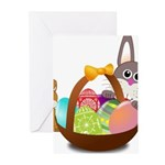 Easter Eggs with Rabbit Baby Greeting Cards