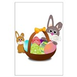Easter Eggs with Rabbit Baby Poster Art
