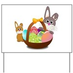 Easter Eggs with Rabbit Baby Yard Sign