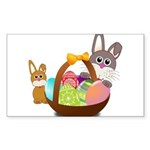 Easter Eggs with Rabbit Baby Sticker