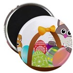 Easter Eggs with Rabbit Baby Magnets