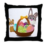Easter Eggs with Rabbit Baby Throw Pillow