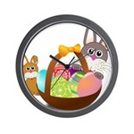 Easter Eggs with Rabbit Baby Wall Clock