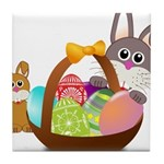 Easter Eggs with Rabbit Baby Tile Coaster