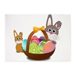 Easter Eggs with Rabbit Baby 5'x7'Area Rug