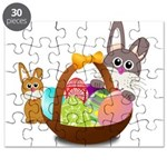 Easter Eggs with Rabbit Baby Puzzle