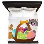 Easter Eggs with Rabbit Baby King Duvet