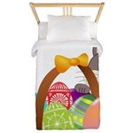 Easter Eggs with Rabbit Baby Twin Duvet