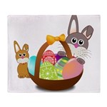 Easter Eggs with Rabbit Baby Throw Blanket