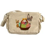 Easter Eggs with Rabbit Baby Messenger Bag