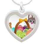 Easter Eggs with Rabbit Baby Necklaces