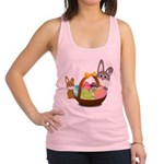 Easter Eggs with Rabbit Baby Racerback Tank Top