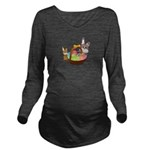 Easter Eggs with Rabbit Baby Long Sleeve Maternity