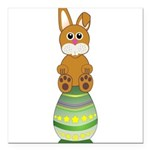 Easter Eggs with Rabbit Square Car Magnet 3