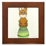 Easter Eggs with Rabbit Framed Tile