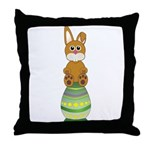 Easter Eggs with Rabbit Throw Pillow