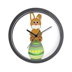 Easter Eggs with Rabbit Wall Clock