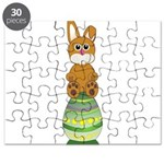 Easter Eggs with Rabbit Puzzle