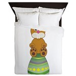 Easter Eggs with Rabbit Queen Duvet