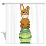 Easter Eggs with Rabbit Shower Curtain