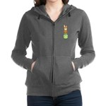 Easter Eggs with Rabbit Women's Zip Hoodie