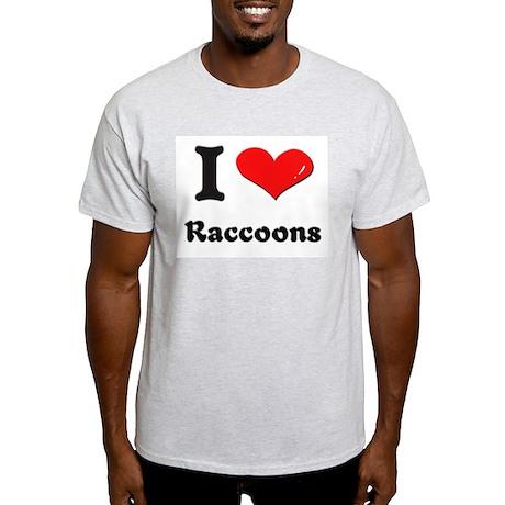 I love raccoons Light T-Shirt